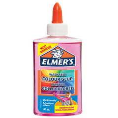 Клей для слайма Elmer's Color Glue розовый прозр 147 мл