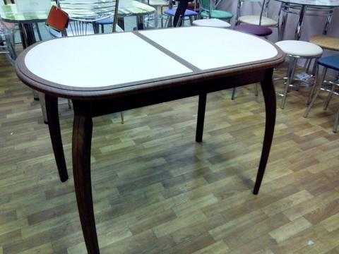 Обеденный раздвижной стол из мдф и кухонного пластика  Галатея ДП