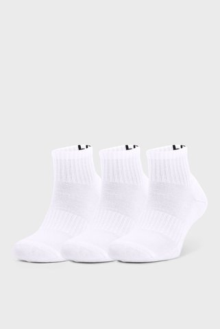 Белые носки UA Core QTR (3 пары) Under Armour