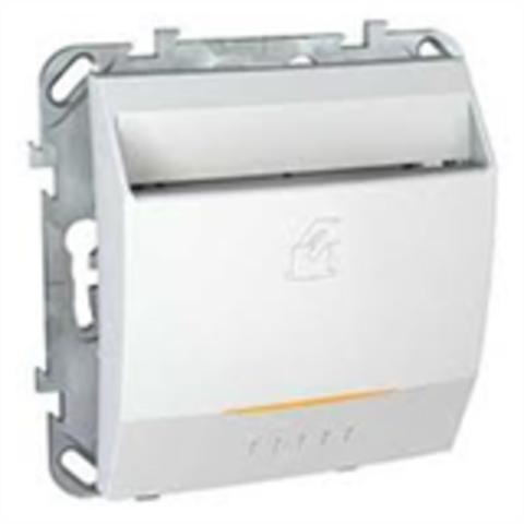 Карточный выключатель с подсветкой, 10А. Цвет Белый. Schneider electric Unica. MGU5.283.18ZD