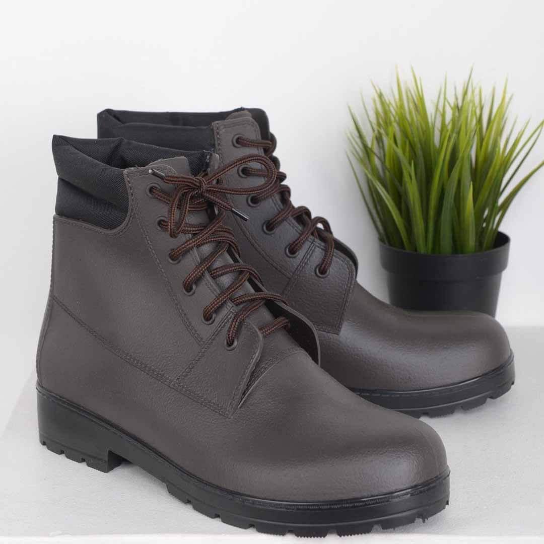 Мужские утепленные ботинки Nordman Rover коричневые с черной подошвой