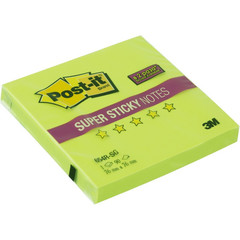 Стикеры Post-it 76x76 мм неоновые зеленые (1 блок, 90 листов)
