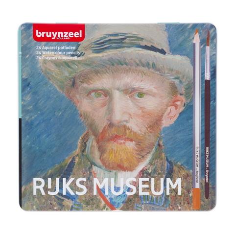 Набор акварельных карандашей Rijksmuseum 'Автопортрет' Ван Гог 24 цвета в металлической упаковке