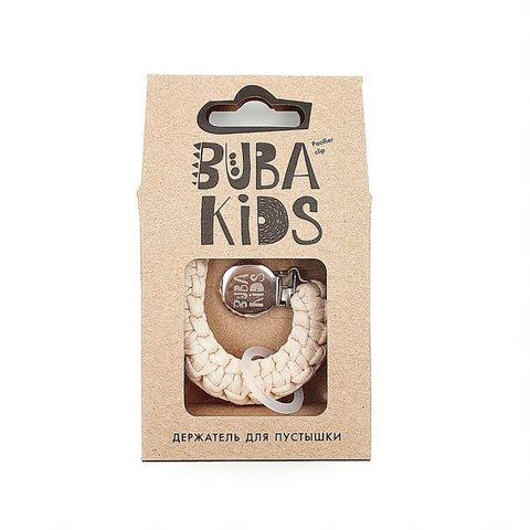 Прищепка-держатель для соски текстильный BUBA Kids Ваниль