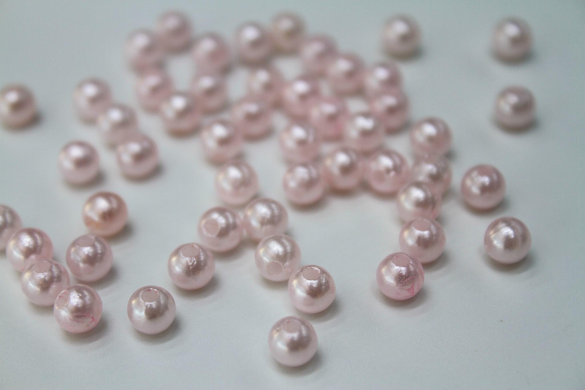 Бусинки розовые,5 мм
