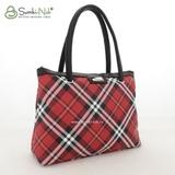 Сумка Саломея 388 шотландский красный + черный