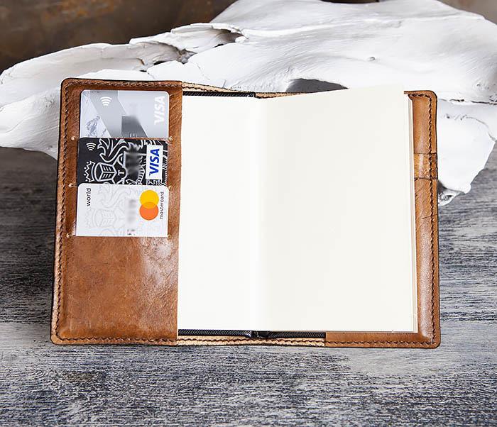 BC199 Кожаный ежедневник ручной работы с гербом СССР (A6) фото 08