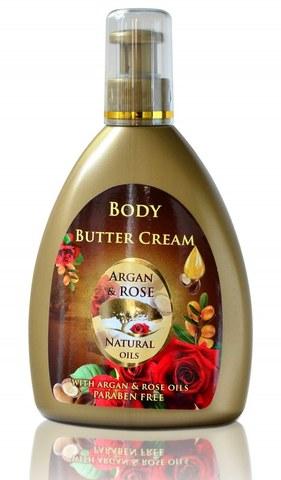 Крем-масло для тела с аргановым маслом и натуральным розовым маслом