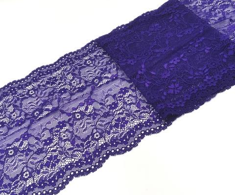 Эластичное кружево, ОПТ 21 см, ярко-фиолетовое, (Арт: EK-2145), м