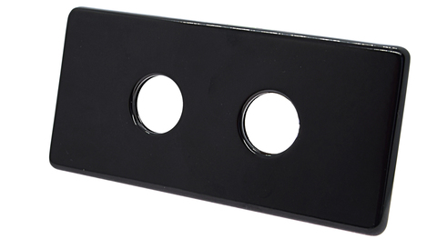 Двойная маскирующая розетка 150/70 L50 Ral 9005 с двумя трубками пластик, длина 120 мм