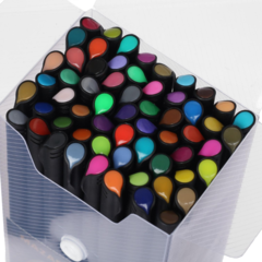 Mazari Mero набор капиллярных ручек линеров 0.4 мм - 60 цветов