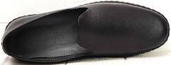Черные слипоны мужские туфли под джинсы smart casual Broni M36-01 Black.