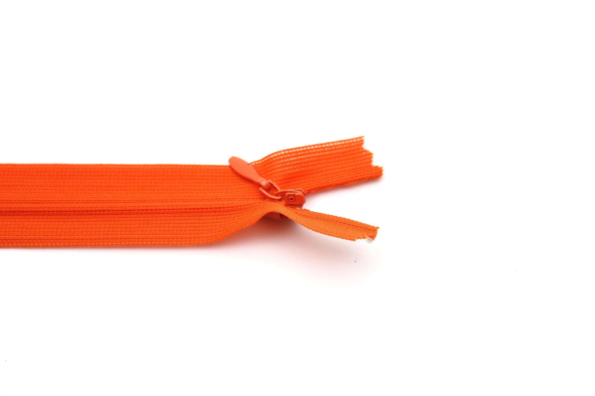Потайная молния,50см(оранж)