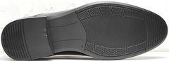 Мужские свадебные туфли классические Ikoc 3416-1 Black Leather.
