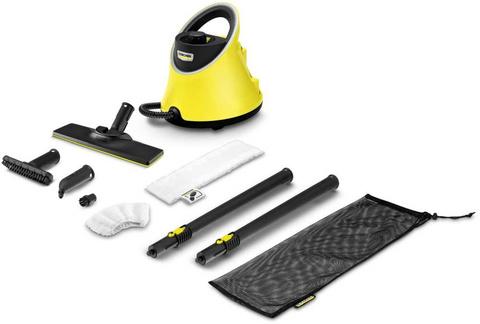 Пароочиститель напольный Karcher EasyFix SC 2 Deluxe 1500Вт желтый/черный