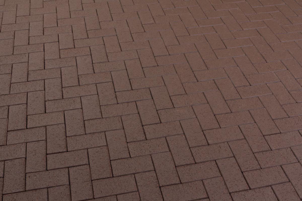 Feldhaus Klinker - P502DF, Umbra plano, темно-коричневый, с оттенками, 240x118x52 - Клинкерная тротуарная брусчатка