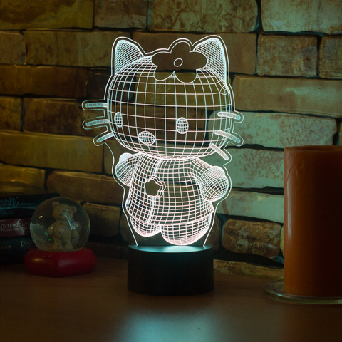 Ночник Hello Kitty 3D