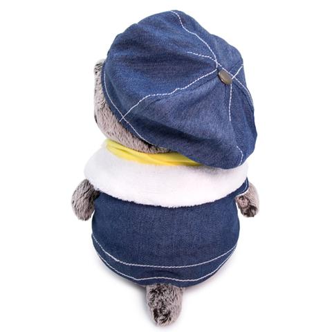Кот Басик BABY в джинсовом жилете