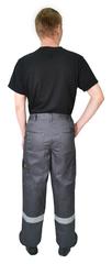 Брюки Респект, тк.смес.пл.240г/м2, цвет серый, черный, лим.