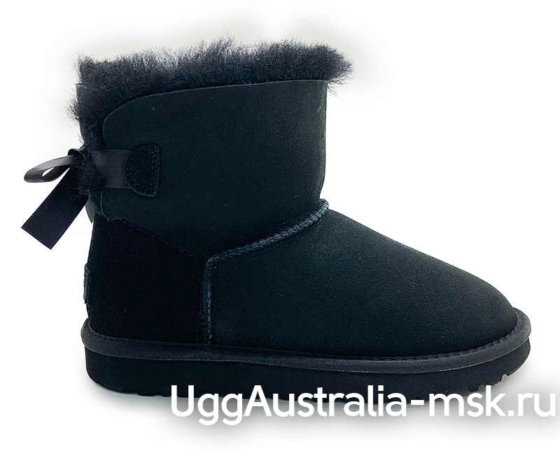UGG BAILEY BOW MINI BLACK