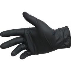 Перчатки нитриловые неопудренные 50 пар Черные (100 штук) (размер L)