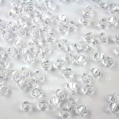 5328 Бусина - биконус Сваровски Crystal 4 мм, 10 штук