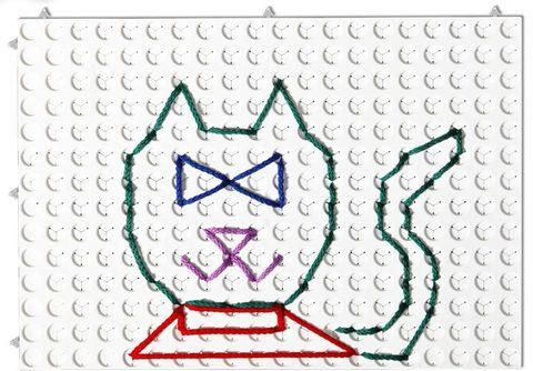 Набор Полидрон Узорная шнуровка №1 (Набор белых панелей для создания композиций) 4-6 лет