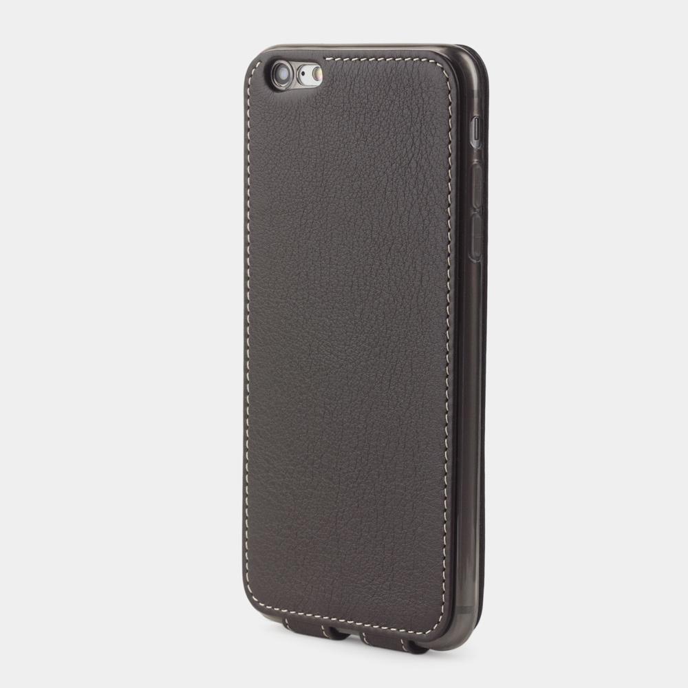 Чехол для iPhone 6/6S Plus из натуральной кожи теленка, темно-коричневого цвета