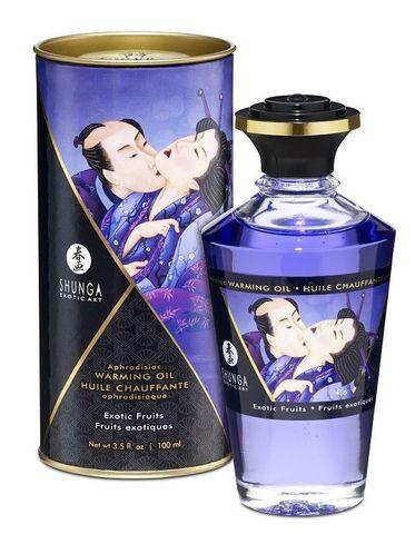 Массажное интимное масло Shunga с ароматом экзотических фруктов - 100 мл.