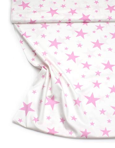 Звезды розовые на белом