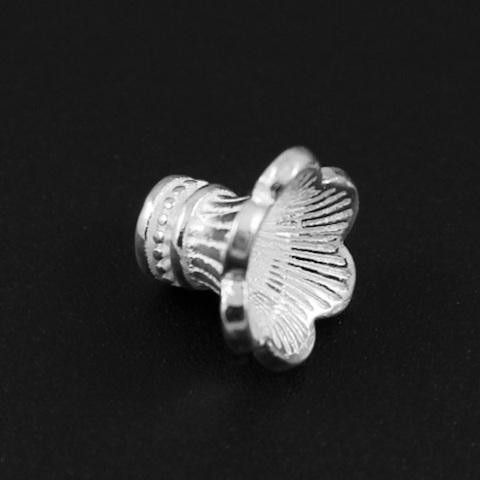 Шапочка Делина 8,6х10,5 мм светлое серебро 925 1 шт