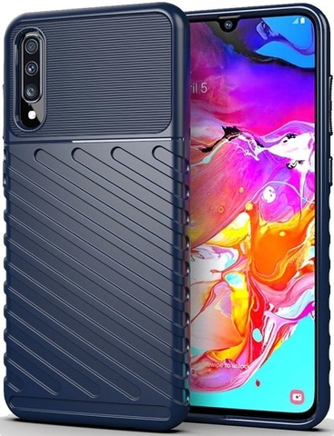 Чехол для Samsung Galaxy A70 (Galaxy A70S) цвет Blue (синий), серия Onyx от Caseport