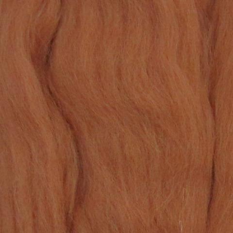 Шерсть для валяния полутонкая 30 Светлый терракот (Пехорка)