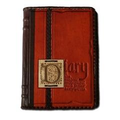 Ежедневник кожаный в стиле 19 века модель 36