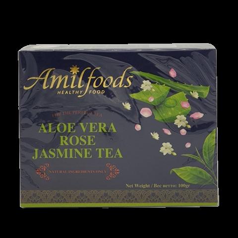 Чай с алоэ вера, лепестками розы и жасмином AMIL, 100 гр
