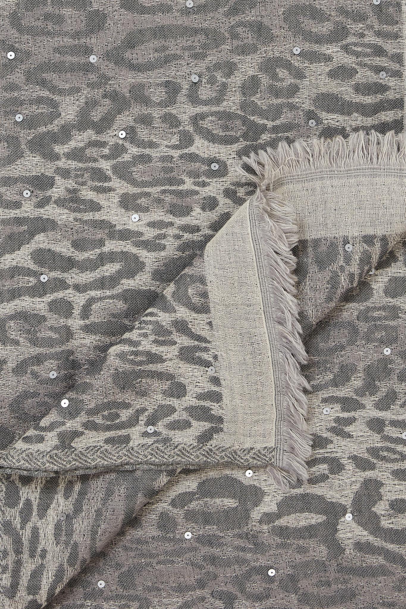 GAELL - Жаккардовый шарф с леопардовым принтом