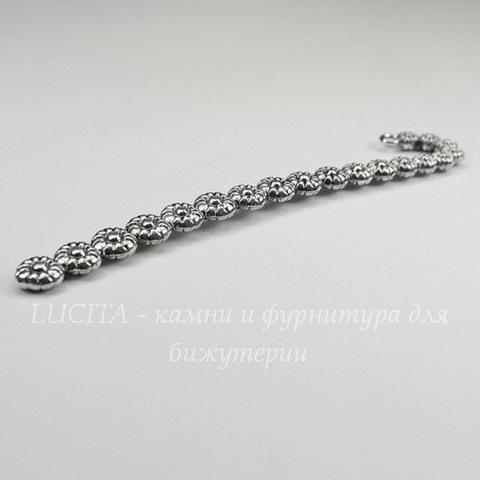 """Основа для закладки """"Маргаритки"""" (цвет - античное серебро) 12 см"""