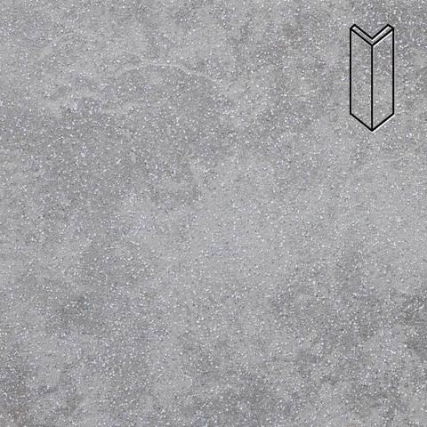 Stroeher - Keraplatte Roccia 840 grigio 157x60x60x11 артикул 9000 - Угловой клинкерный подступенок