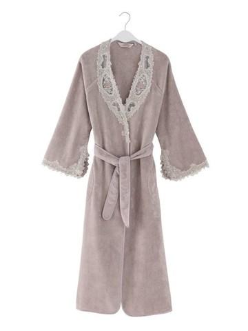 Махровый женский халат DESTAN лиловый
