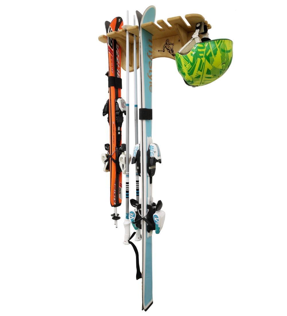 Настенная стойка для 3 пар лыж (вертикально)