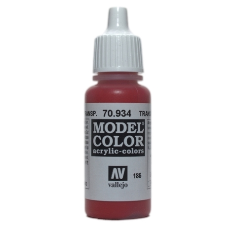 Model Color Transparent Red 17 ml.
