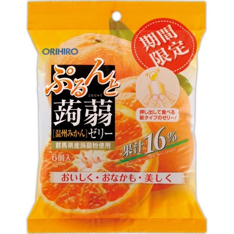 КОННЯКУ желе Orihiro МАНДАРИН (6 шт) с натуральным соком 120 гр