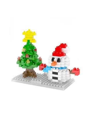 Конструктор Wisehawk Снеговик с елкой 150 деталей NO. 2263 Snowman with a Christmas tree Gift series