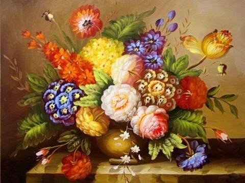 Алмазная Мозаика 30x40 Необычный букет цветов (Арт. SEG74610 )