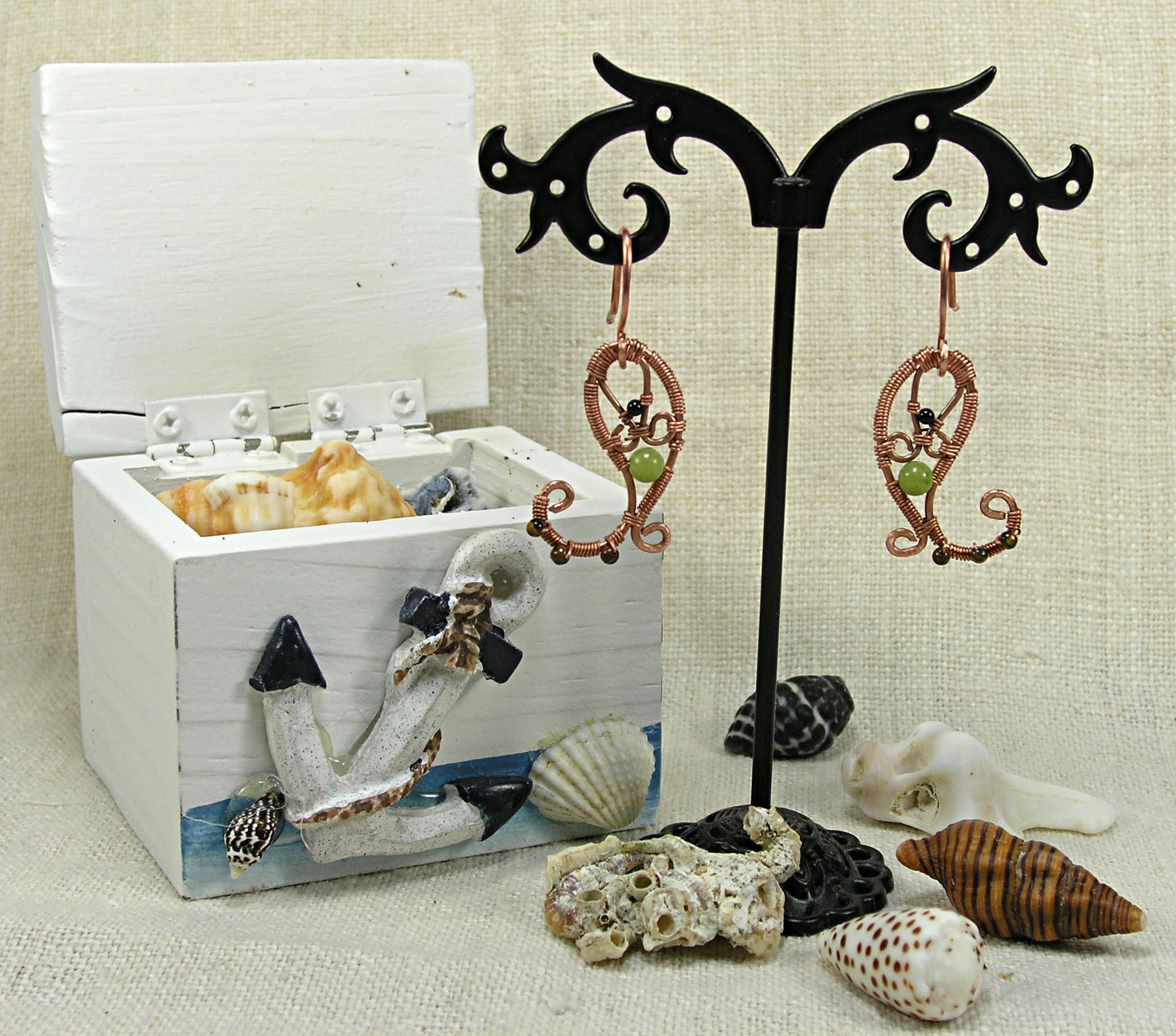Серьги «Приданое морской царевны»