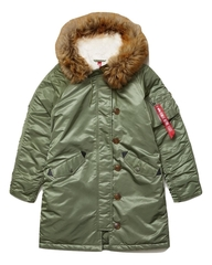 Парка Alpha Industries Elyse Sage Green (зеленая)