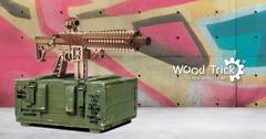 Механическая сборная модель Wood Trick Штурмовая винтовка AR-T