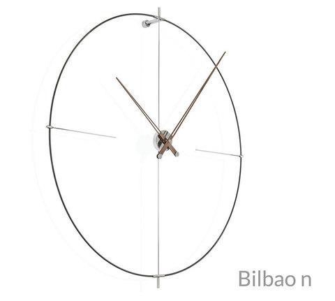 Настенные часы Bilbao N черный-орех