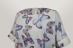 Блузка Laura Canorra 1627 бант бабочки к/р