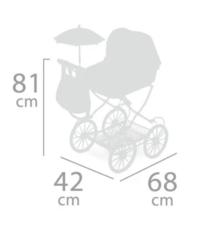 DeCuevas Коляска для кукол Мартина с сумкой и зонтиком, 81 см. (81033)